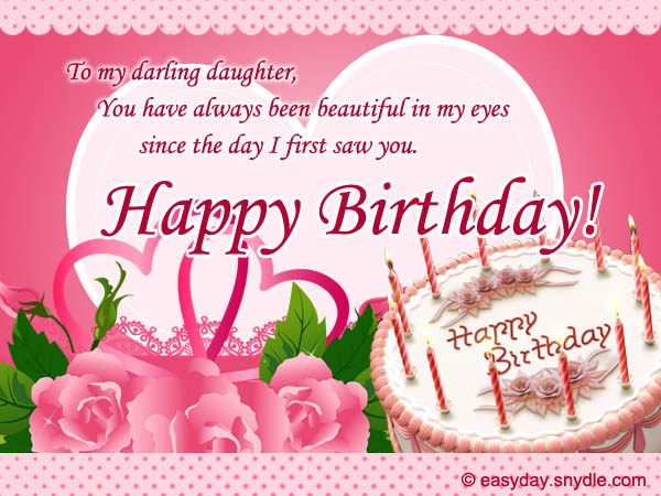 I Am Wishing You A Wonderful Day Lovely Birthday Wishes For Daughters 2