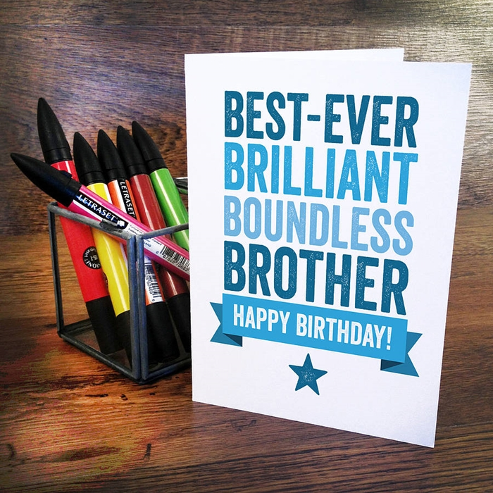 Attractive Birthday Cards to Send Your Wish to Your Dear Brother 10
