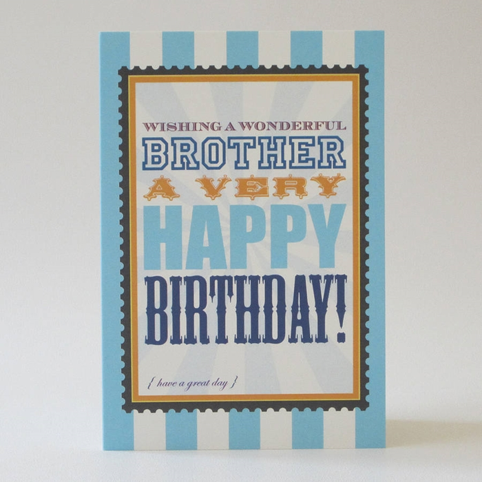 Attractive Birthday Cards to Send Your Wish to Your Dear Brother 5