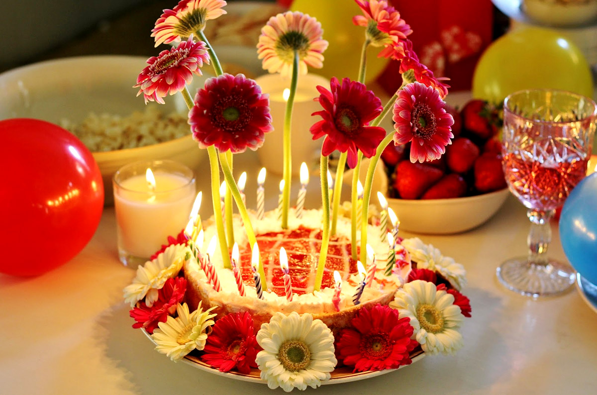 Birthday Cake Flower Images With Wishes Flowers Healthy
