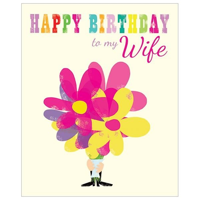 Impressive and Colorful Birthday Cards That Can Touch Your Wife's Heart 1