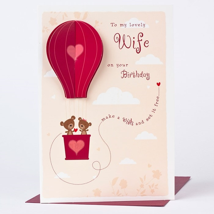 Impressive and Colorful Birthday Cards That Can Touch Your Wife's Heart 4