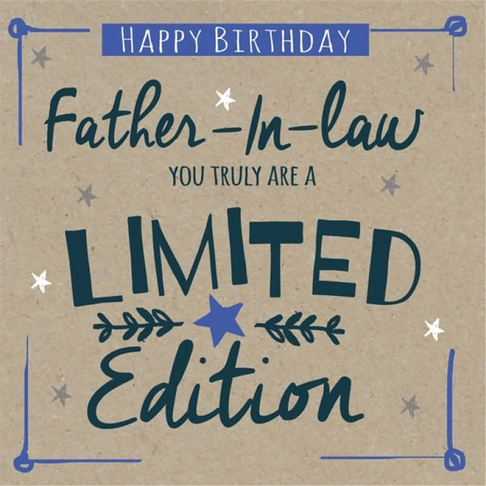 Great And Meaningful Birthday Card To Send Your Father In Law 2