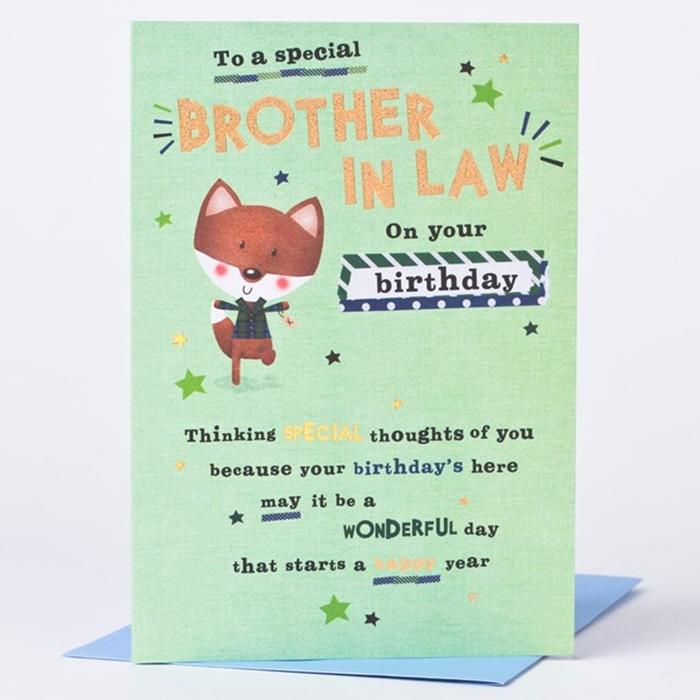 Wonderful Birthday Cards To Express Your Care Brother In Law 1