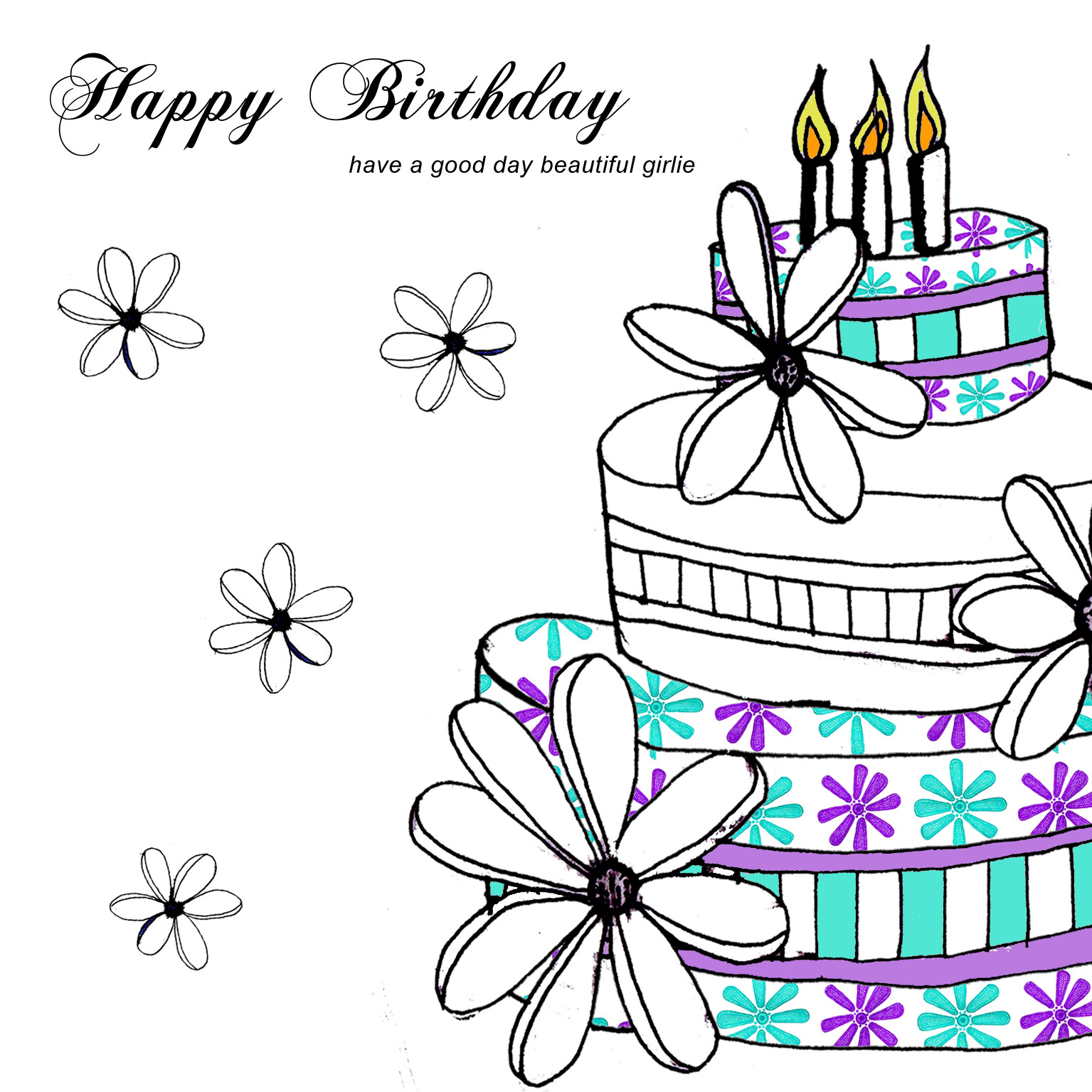 This is a graphic of Shocking Birthday Card Drawing